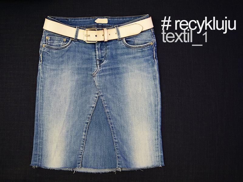 Džínová sukně _ recykluju textil